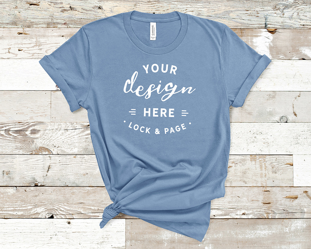 Bella Canvas 3001 Mockup T-Shirt Bundle All Colors On Wood example image 18