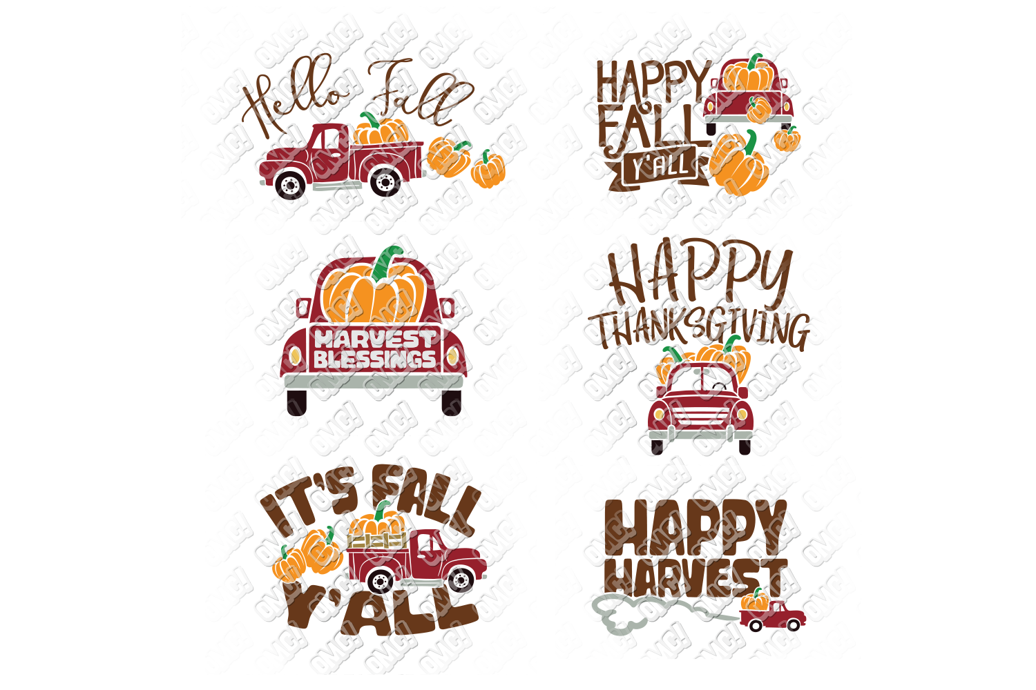Vintage Pumpkin Truck Fall in SVG, DXF, PNG, EPS, JPEG example image 5