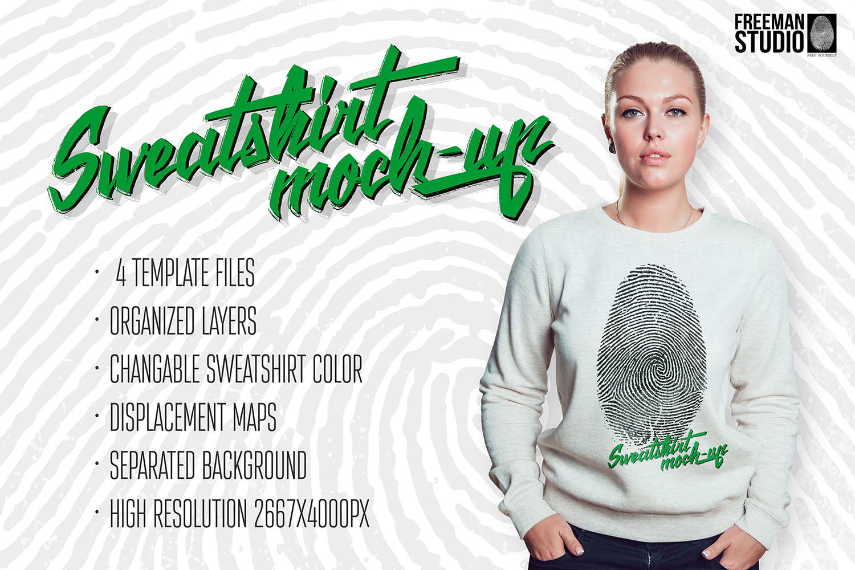 Sweatshirt Mock-Up example image 1