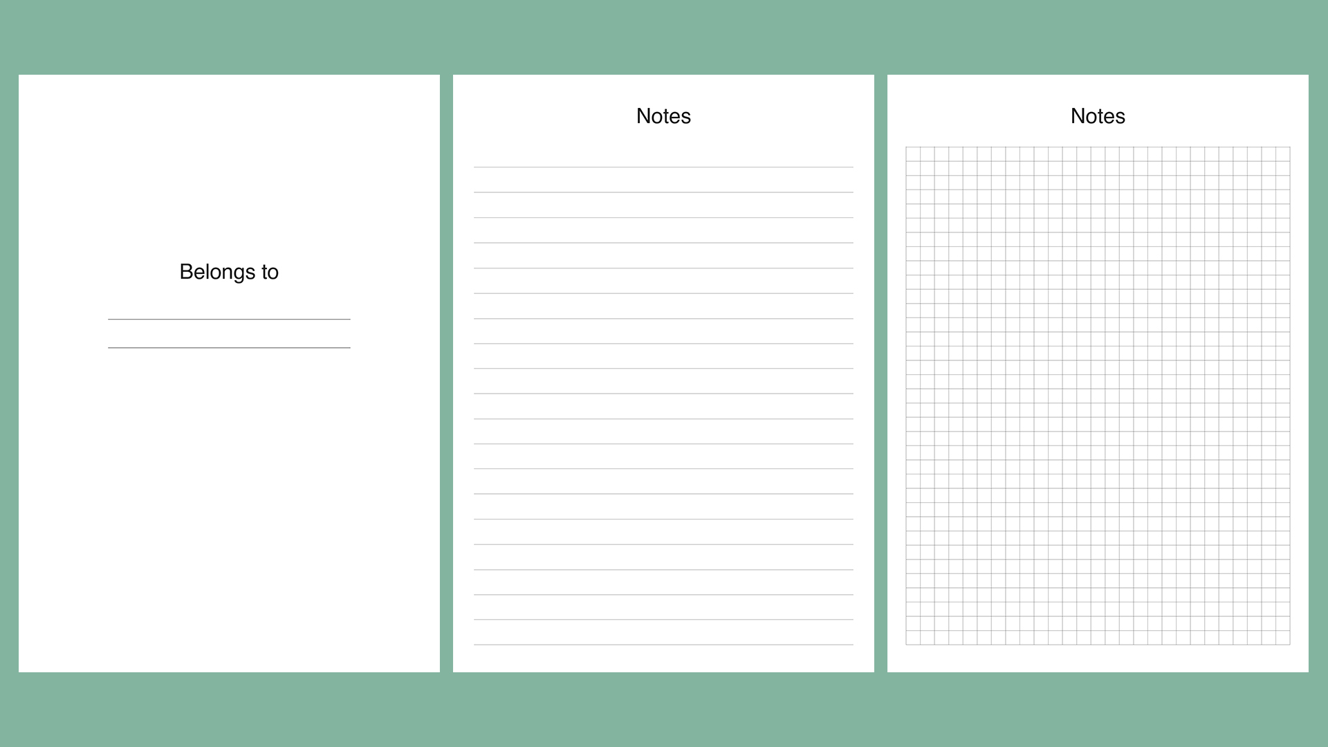 Planner kit vol.4. Universal design example image 7