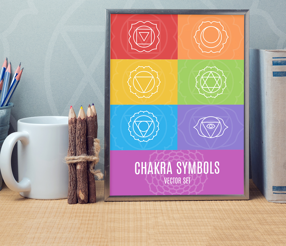 Chakra Symbols and Patterns Vector example image 7