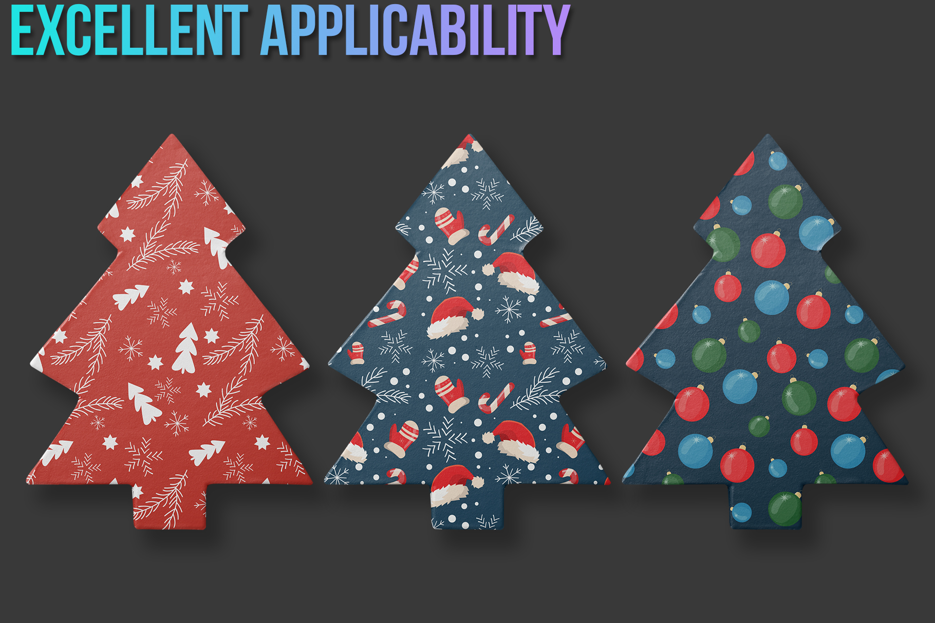 Christmas Seamless Patterns example image 4