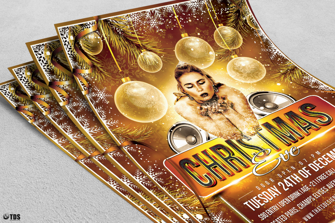 Christmas Eve Flyer Template V4 example image 5