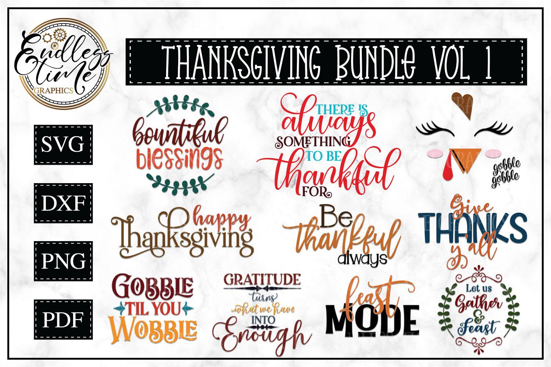 Thanksgiving SVG Bundle example image 1