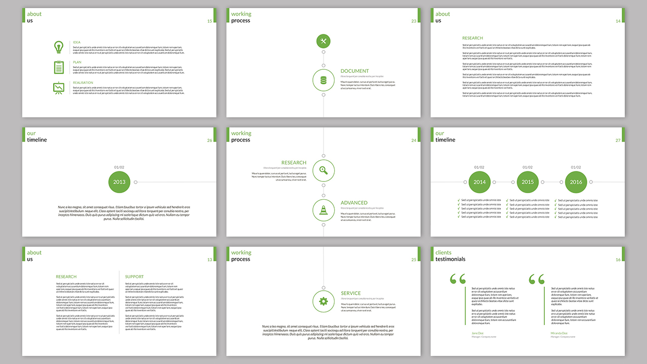 Clarity Company Minimal PowerPoint Template example image 6