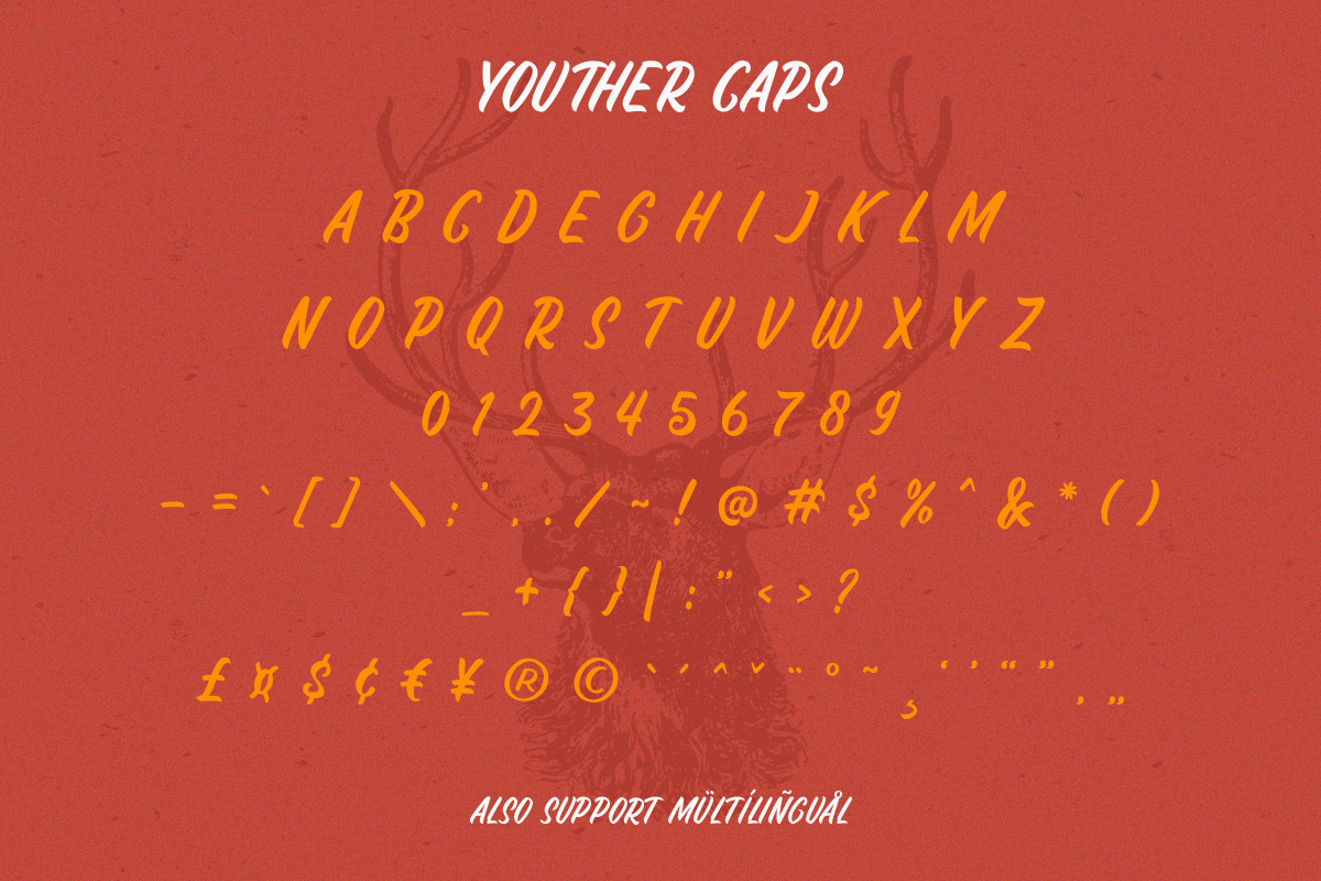 Youther Script - Layered Font Duo example image 8