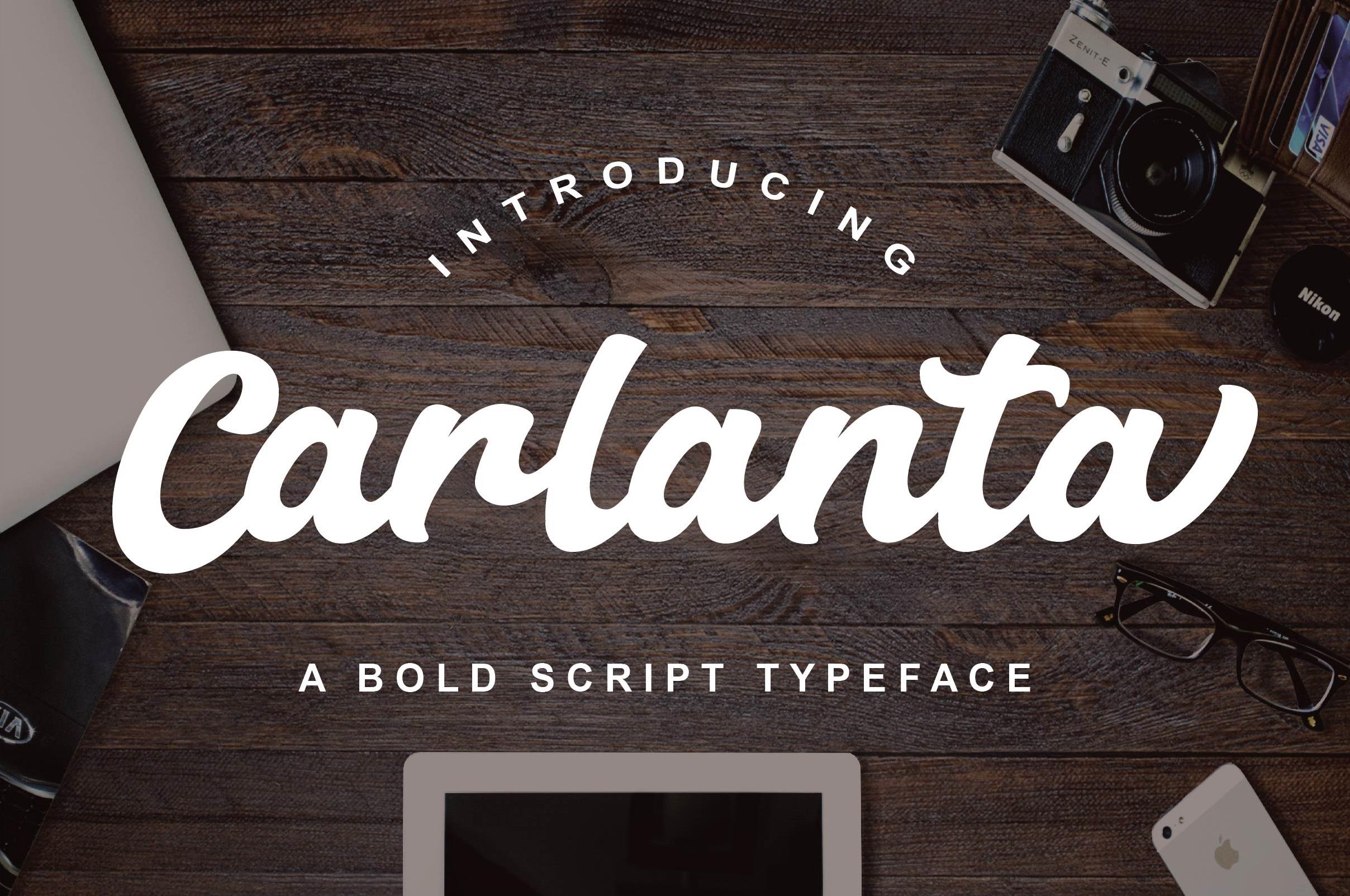 Carlanta Bold Script example image 1