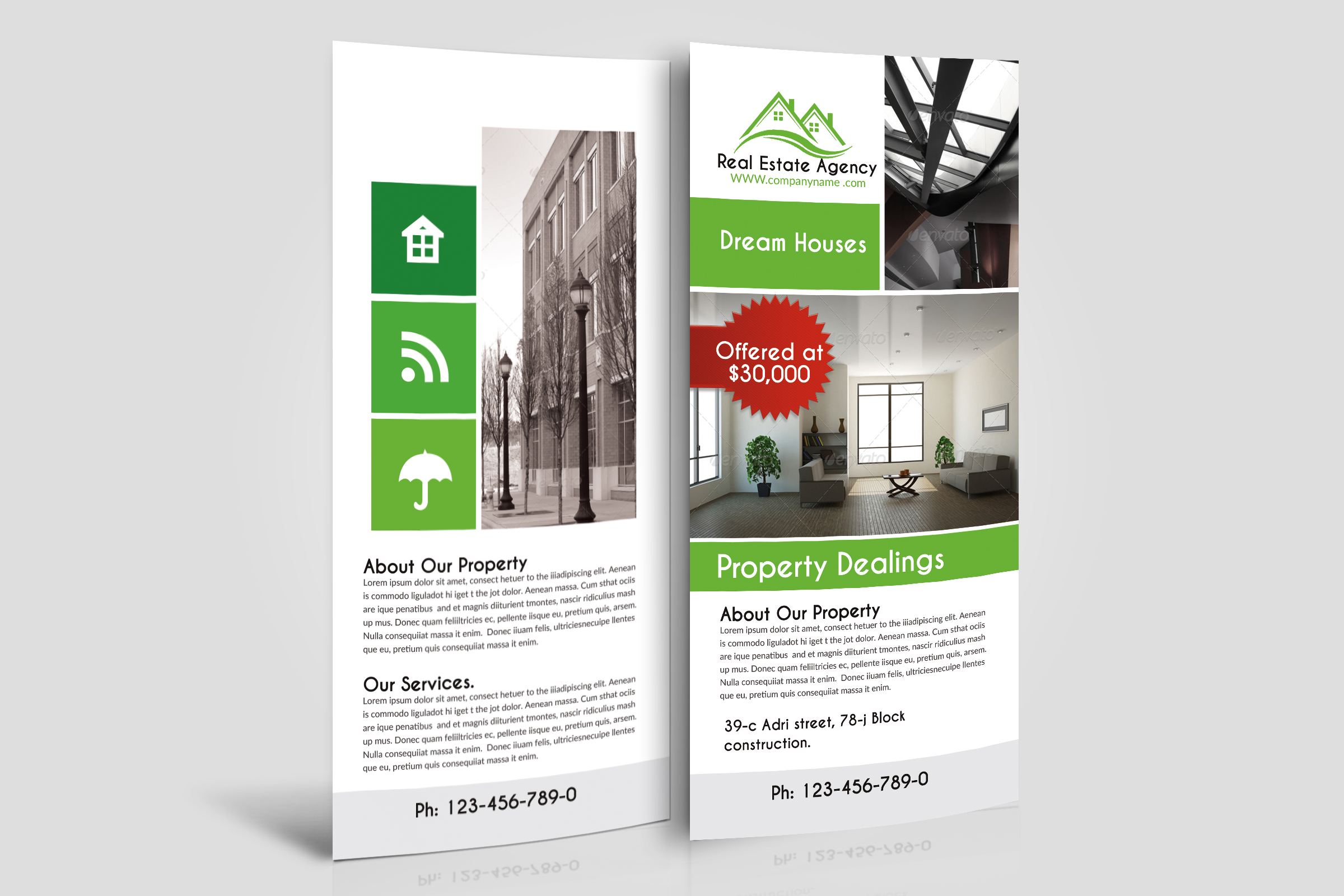 Real Estate Agency Rack Cards example image 1