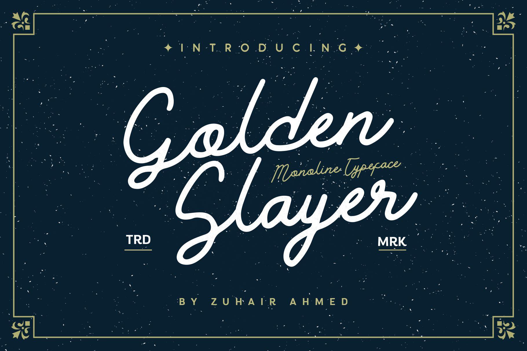 Golden Slayer - Monoline Typeface example image 1