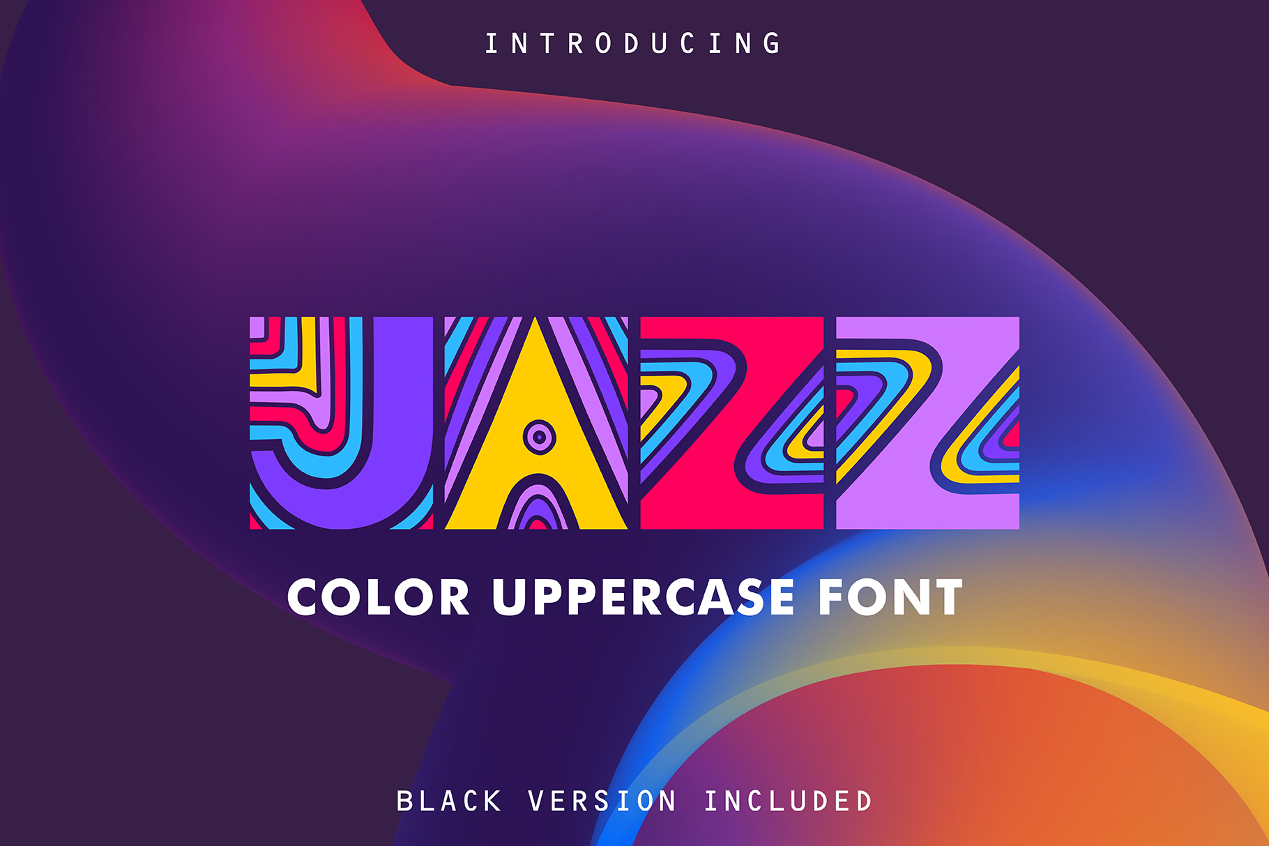 JAZZ - SVG Color Font example image 1