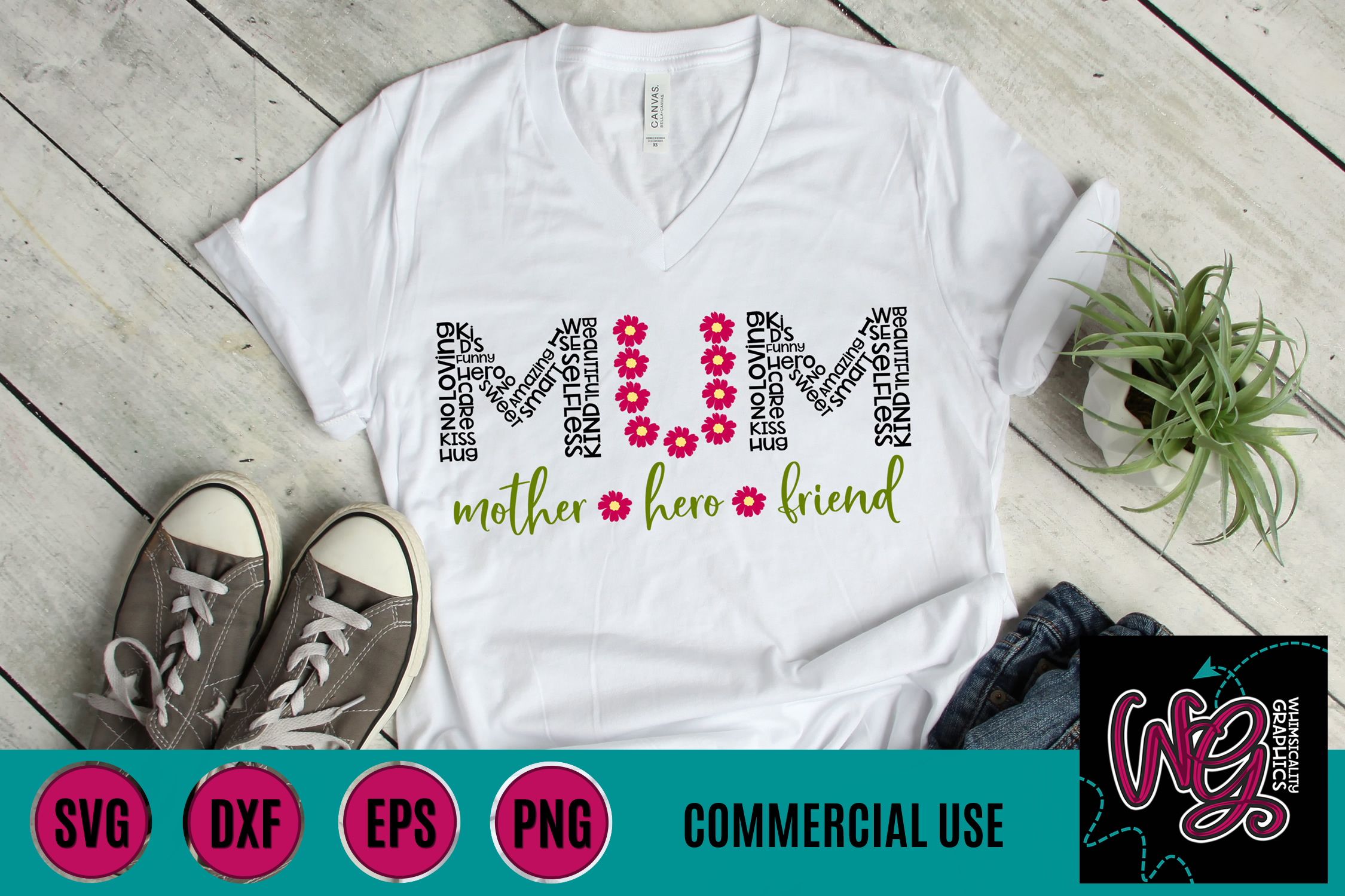 Mom Mum Mother Hero Friend SVG DXF PNG EPS Comm example image 2