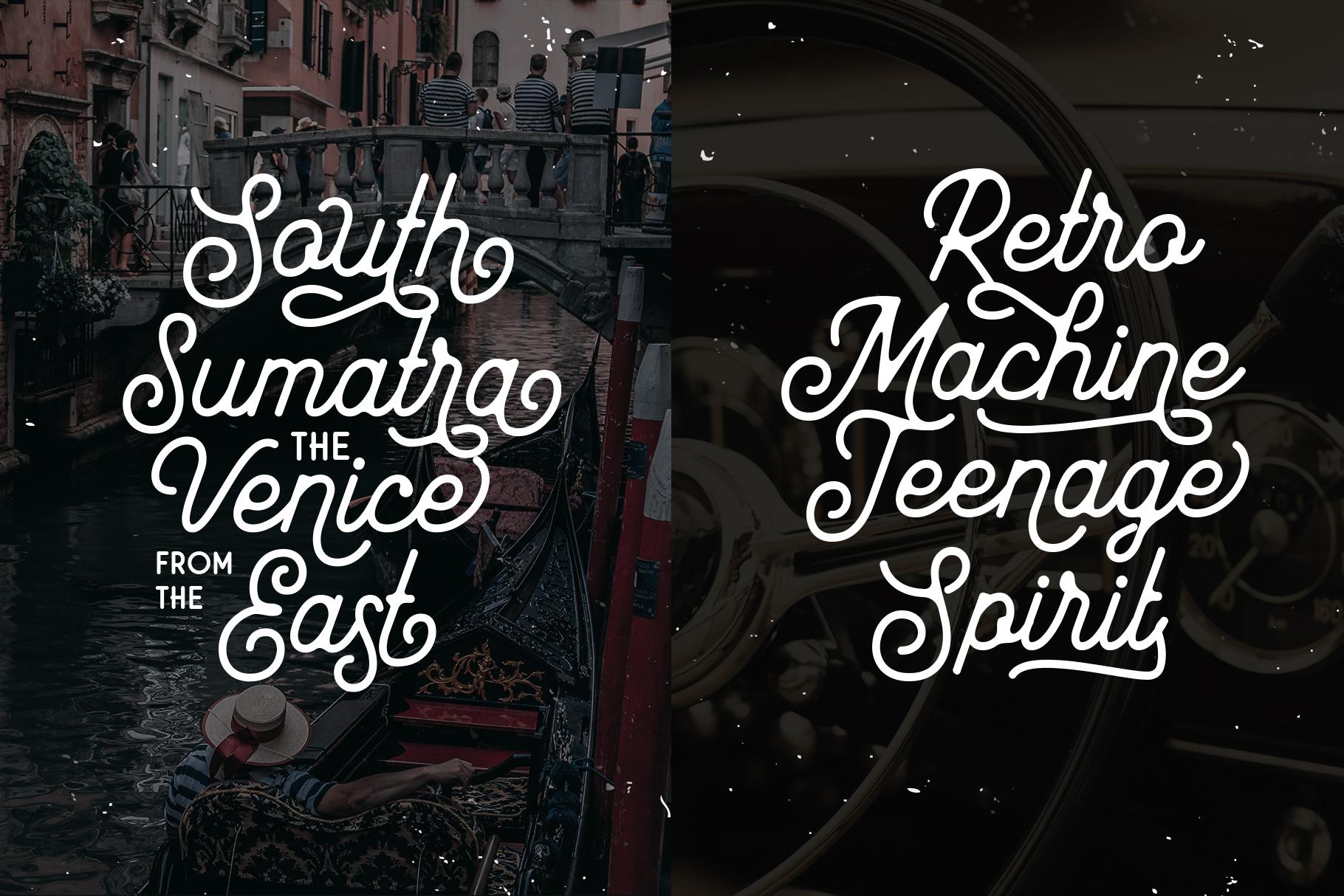 Mayhena Monoline Font example image 8