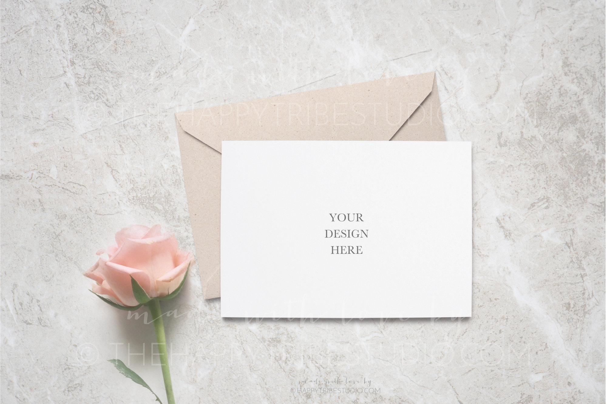 Wedding Mockup | Invitation Mockup | Card & envelope mockup example image 1