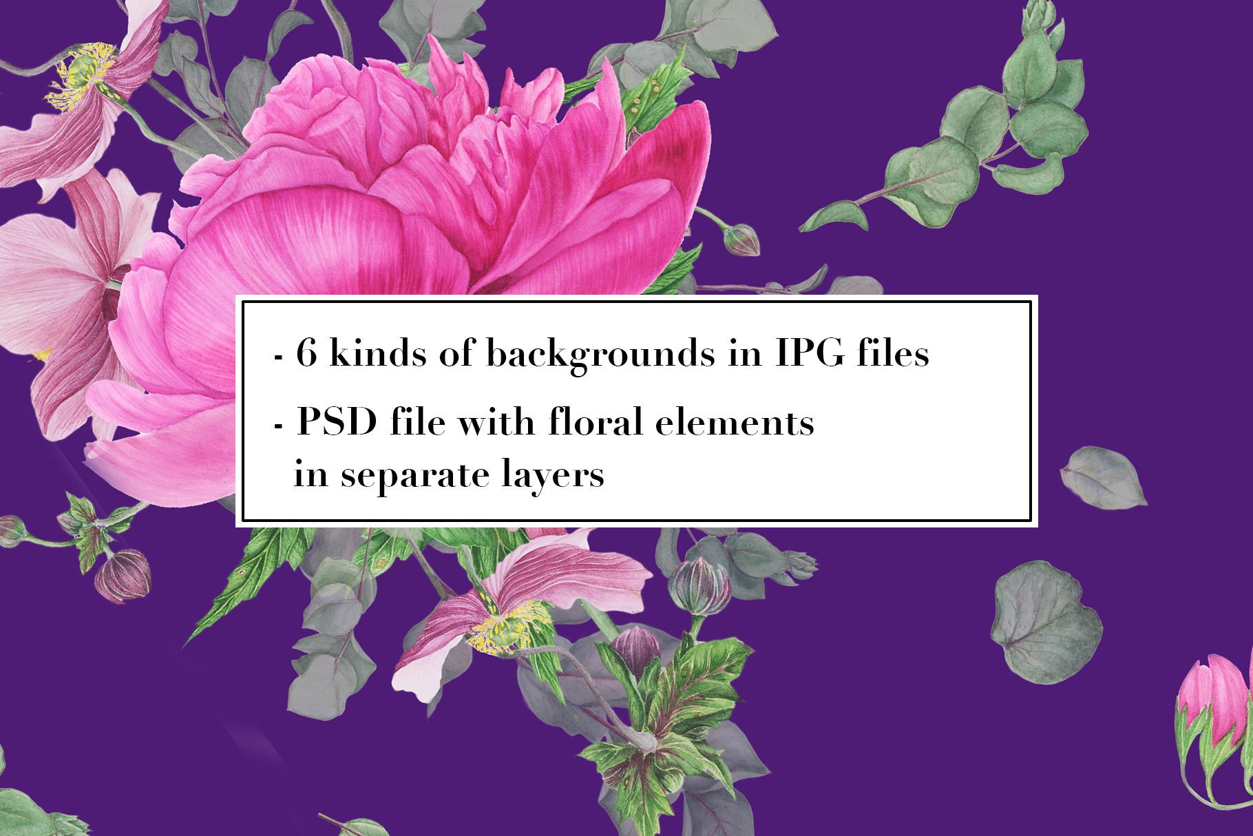 Peonies patterns example image 6