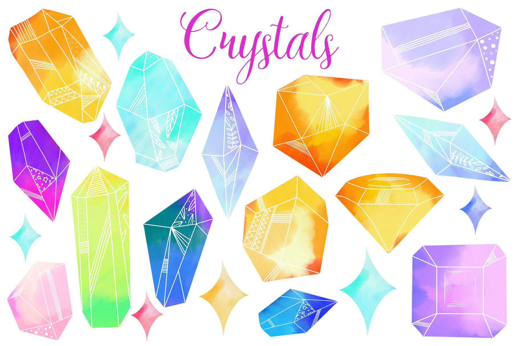 Watercolor Crystals example image 2