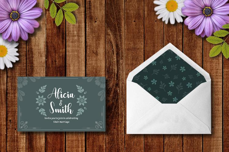 Floral Wedding Invitation example image 5