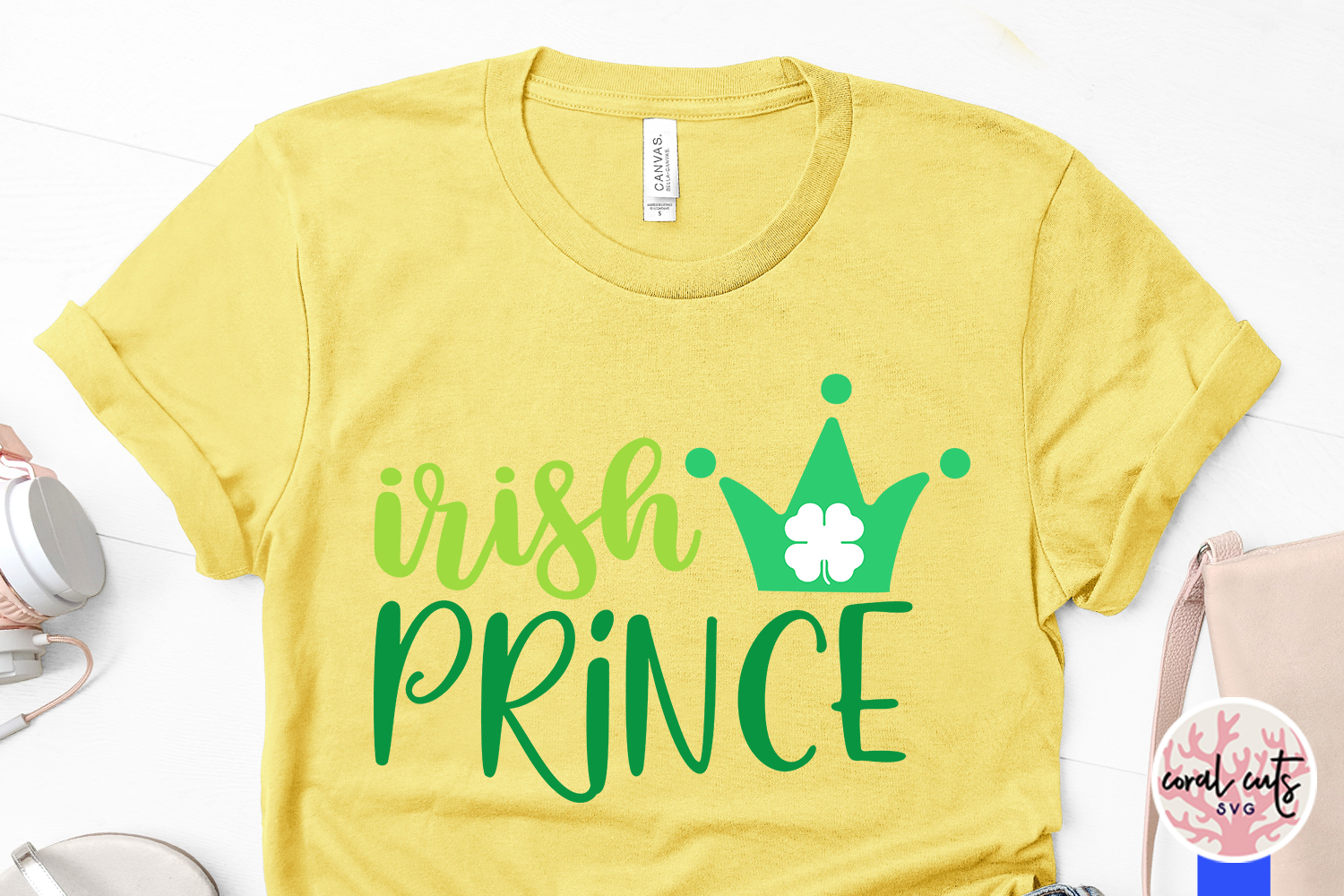 Irish Prince - St. Patrick's Day SVG EPS DXF PNG example image 3