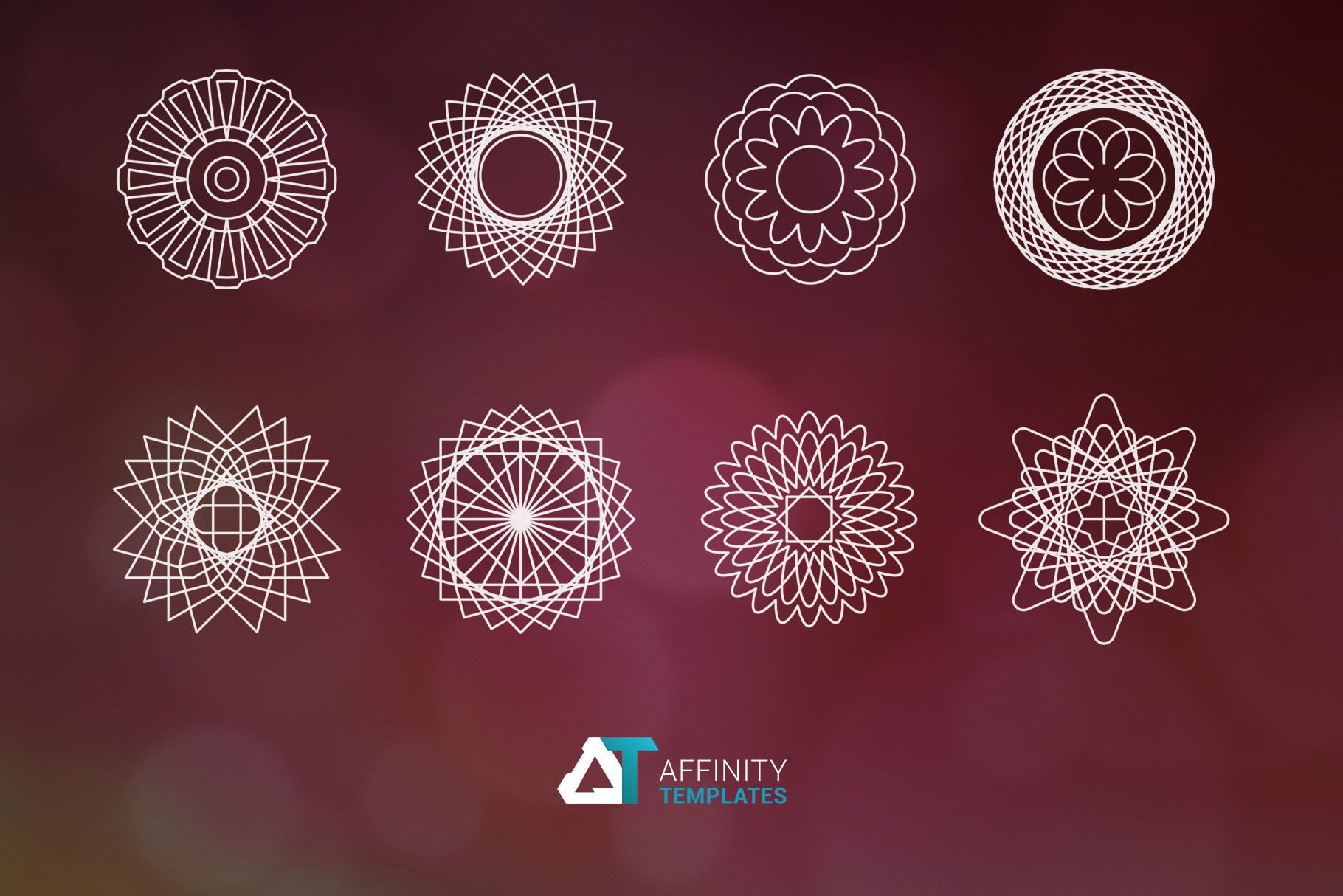Sacred Geometry Vector Shapes Set example image 6