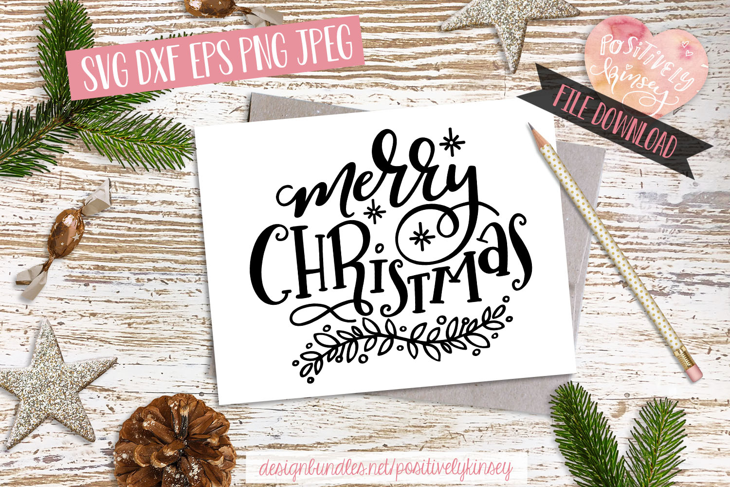 Merry Christmas SVG DXF PNG EPS Christmas Quote Svg Design example image 3