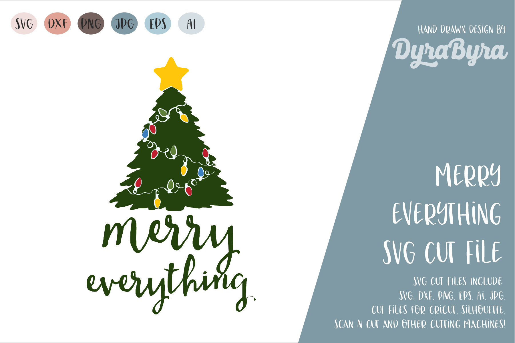 Merry Everything SVG / Christmas SVG / Chistmas Tree SVG example image 2