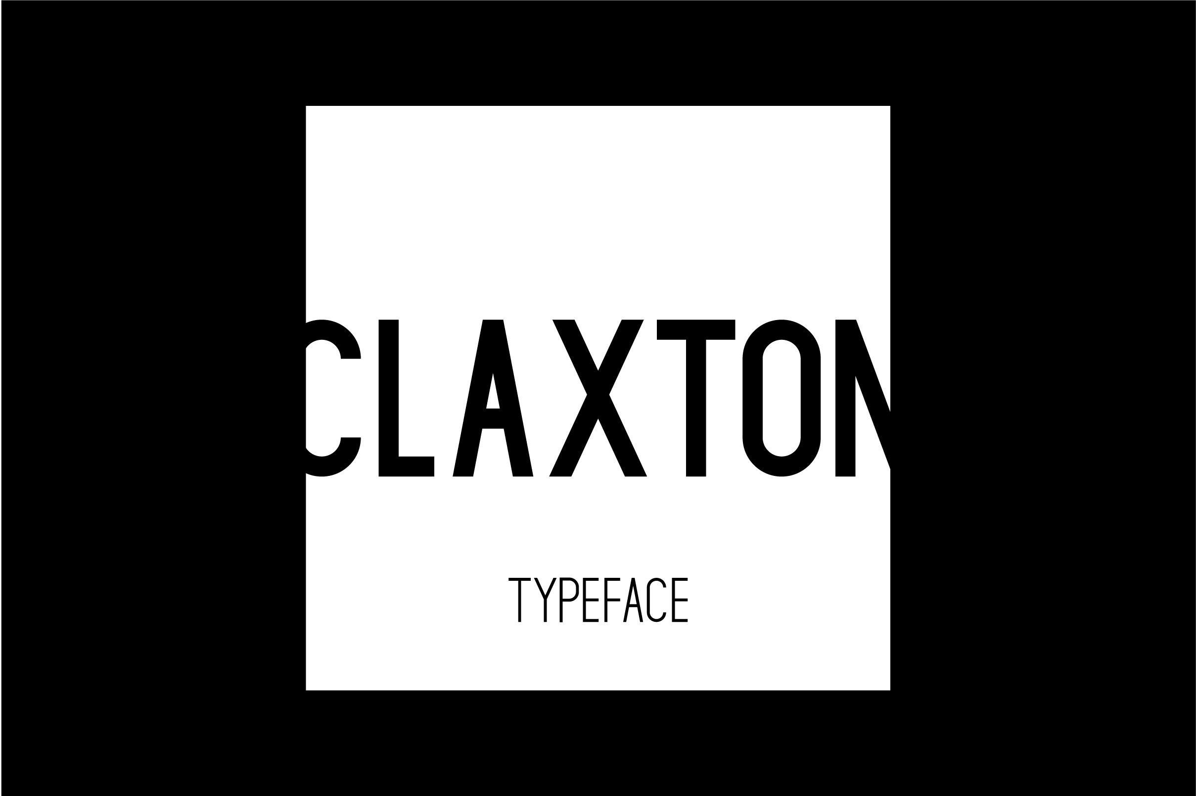 Claxton Typeface example image 2