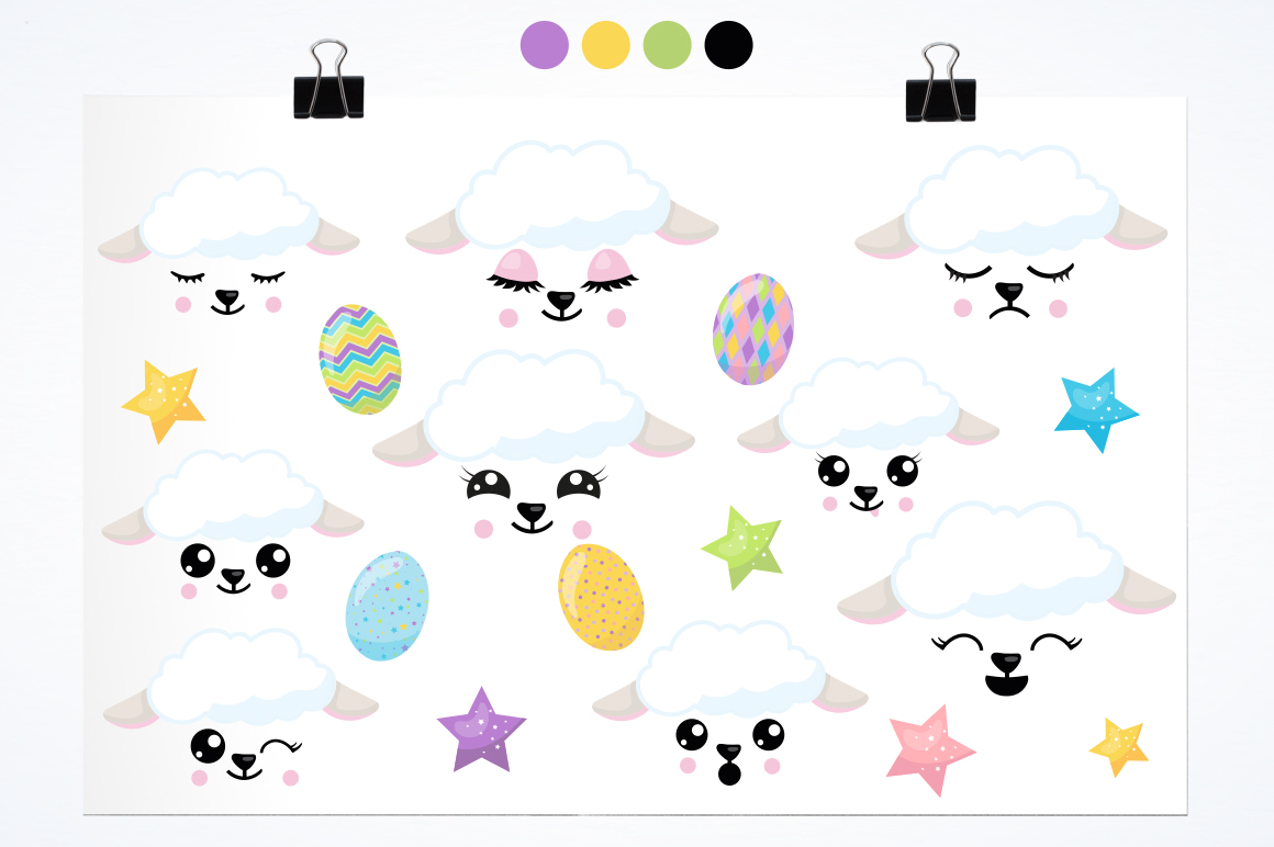 Easter Lamb graphic and illustrations example image 2