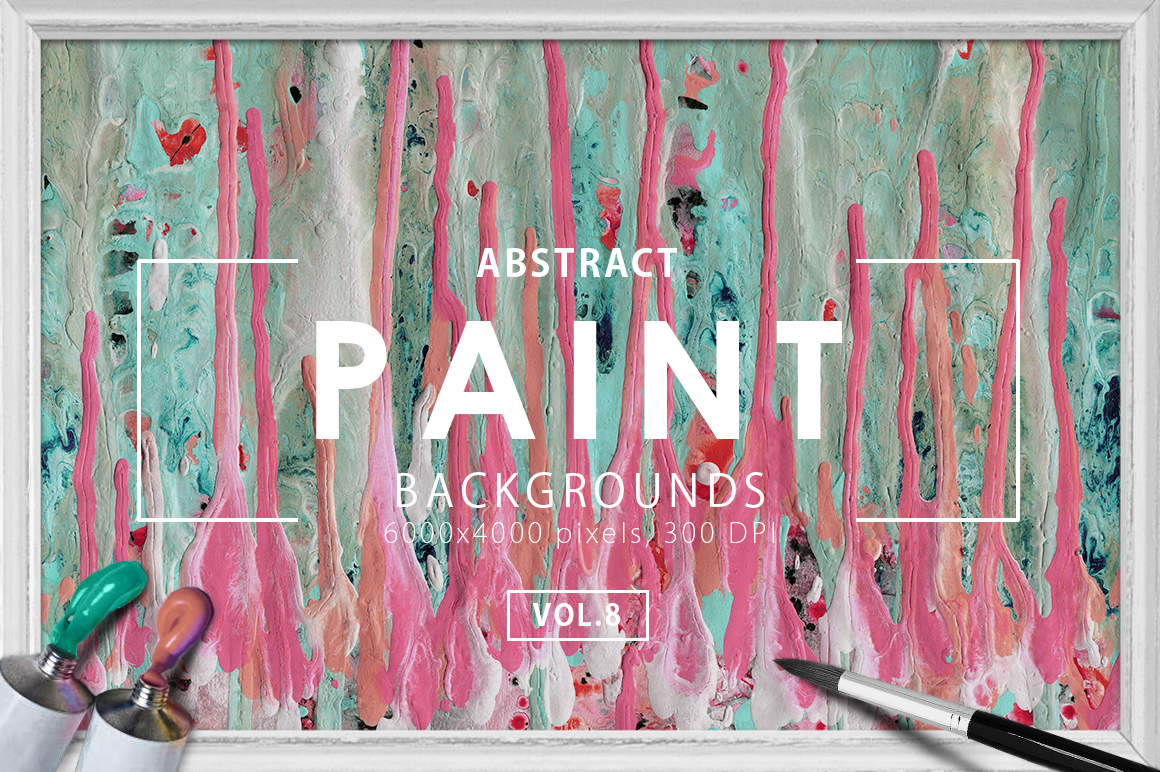 Abstract Paint Backgrounds Vol. 8 example image 1