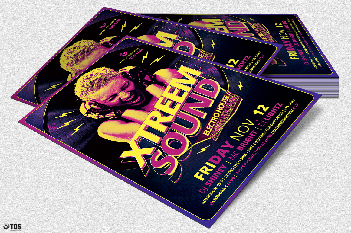 Xtreem Sound Flyer Template example image 4