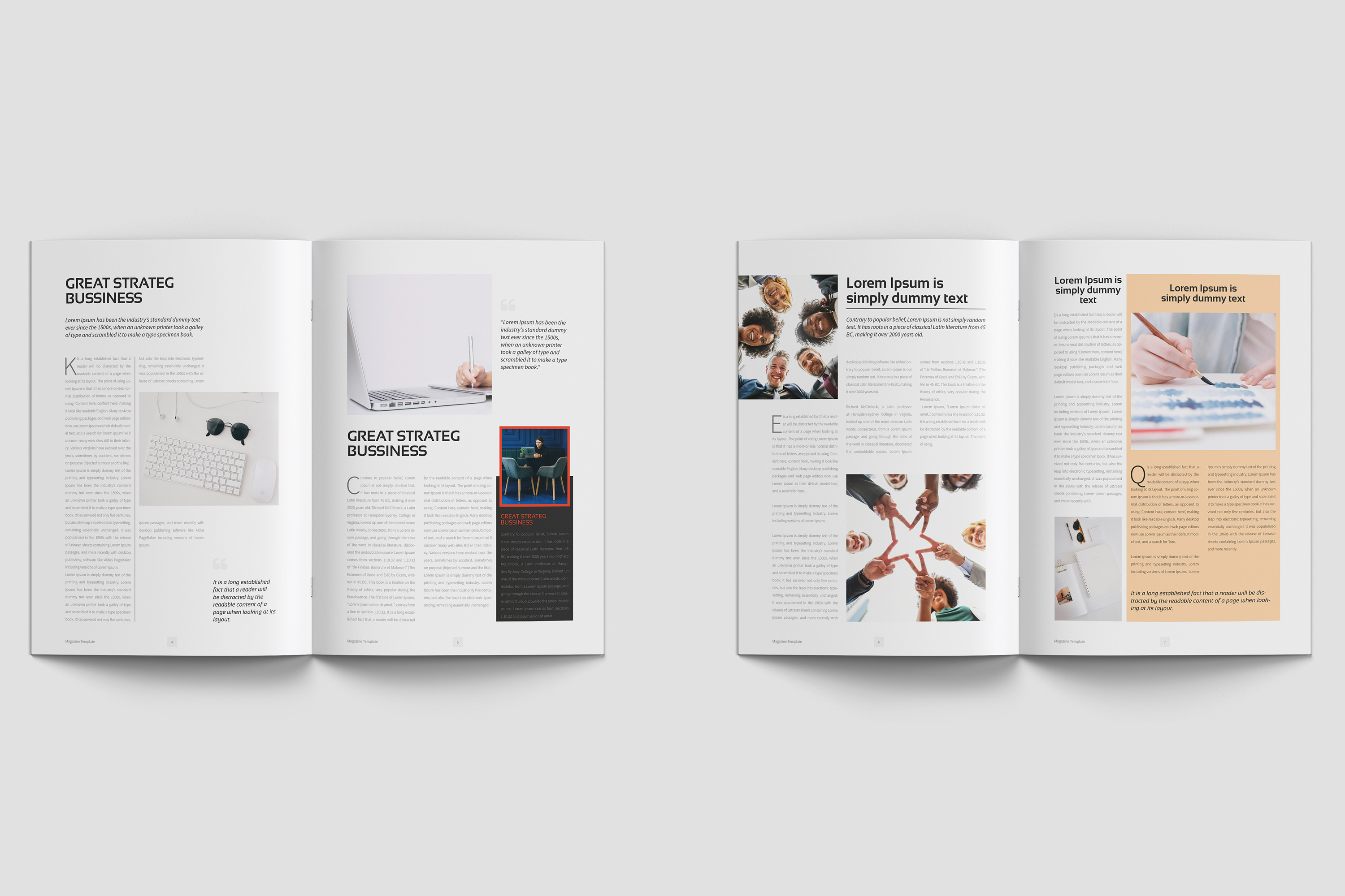 Business Magazine Template example image 6