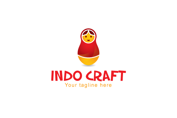 Indo Craft - Illustrative Stock Logo Template for Handicraft example image 1