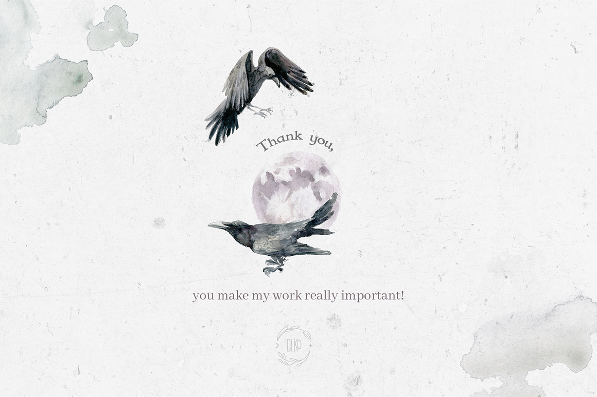 Gloomy fairytale graphic collection. example image 13