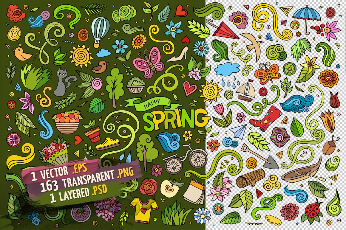 Spring Objects & Symbols Set example image 3