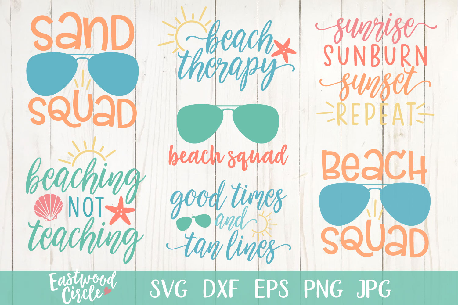 Beach SVG Bundle - Cut Files for Crafters example image 2