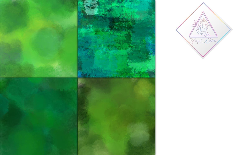 Emerald Watercolor Digital Paper example image 4