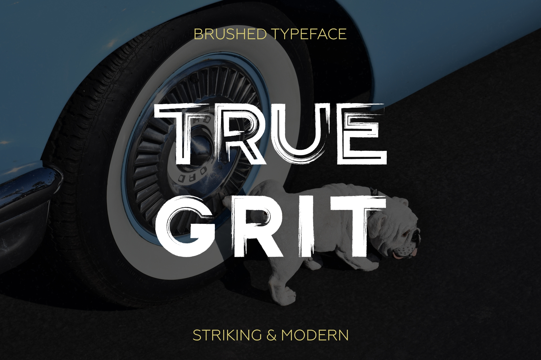 Gent. Display brushed typeface. Striking and modern. example image 3