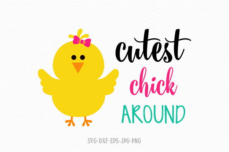 cutest chick around, Easter Chick Svg example image 1