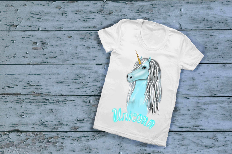 Unicorn clipart, fairy clipart, magic unicorn face clipart example image 4
