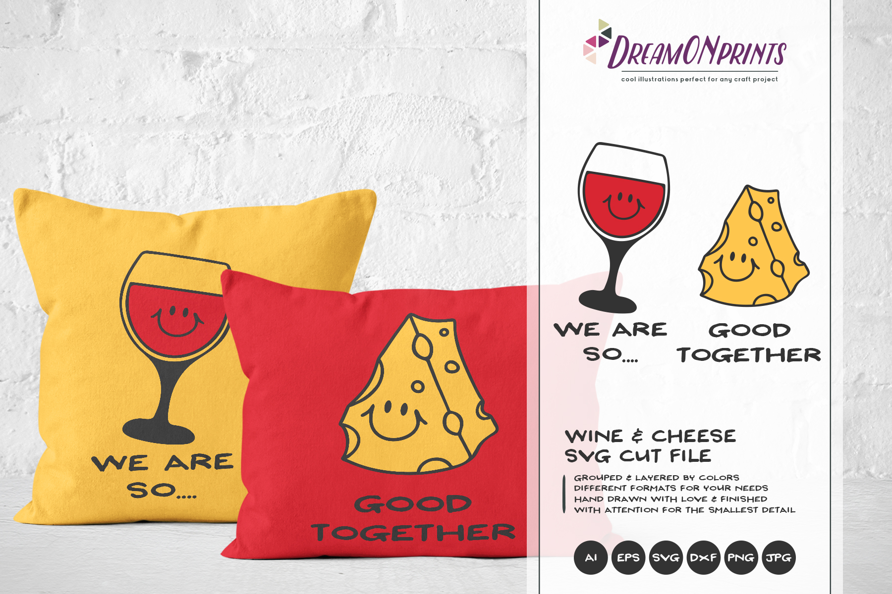 Wine and Cheese SVG BUNDLE - Bundle SVG Cut Files example image 3