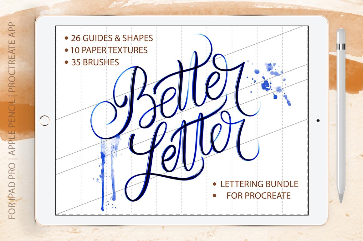 Better Letter. Procreate Brush Set. example image 1