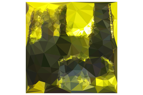Electric Lime Yellow Abstract Low Polygon Background example image 1