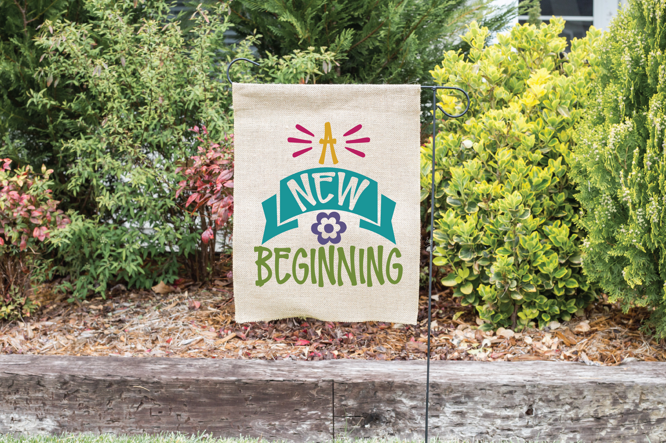 A New Beginning SVG Cut File - Spring SVG DXF EPS PNG JPG AI example image 2
