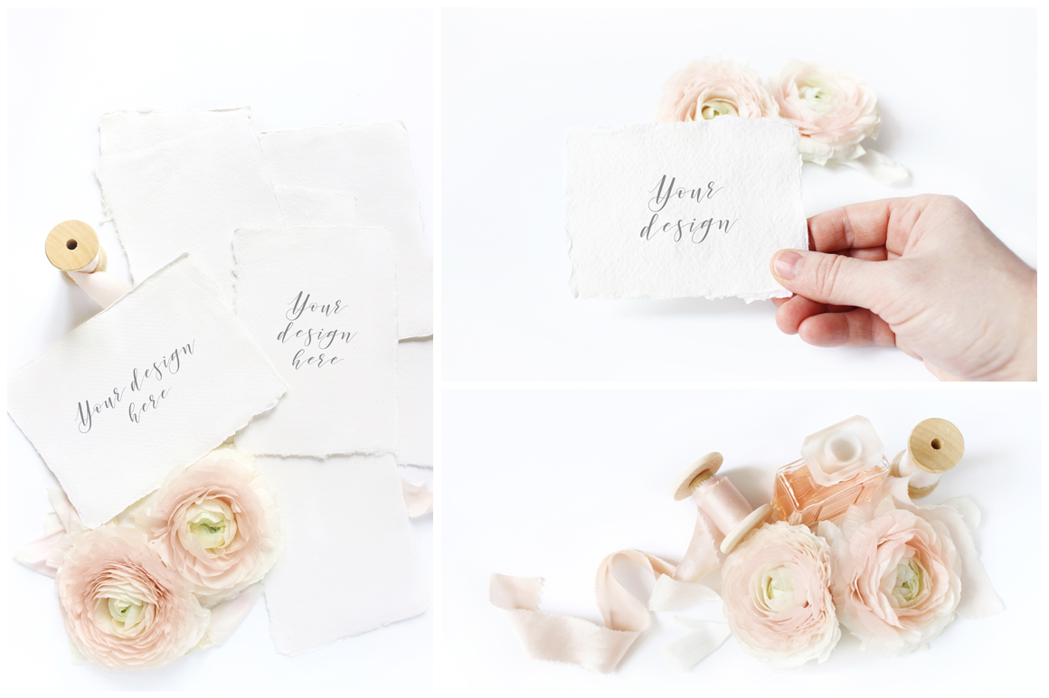 Blush Wedding mockups  & stock photo bundle example image 4