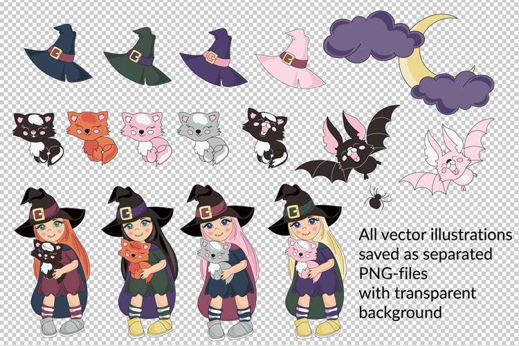 HALLOWEEN is a beautiful vector illustration & clip art set example image 4