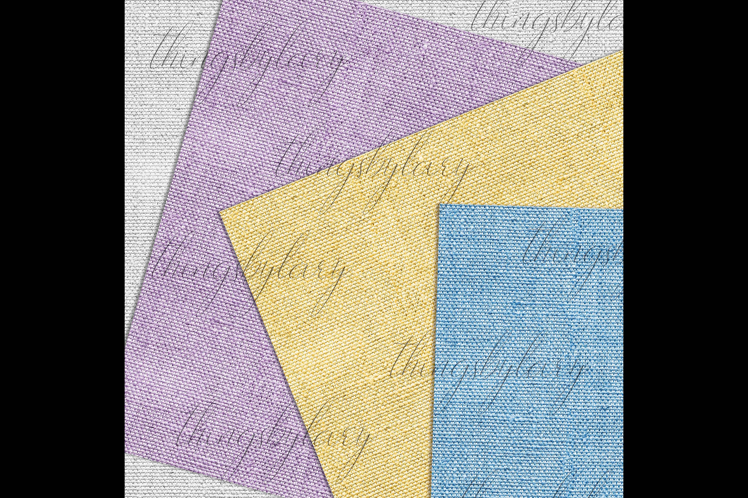 100 Seamless Realistic Burlap Texture Shabby Digital Papers example image 4