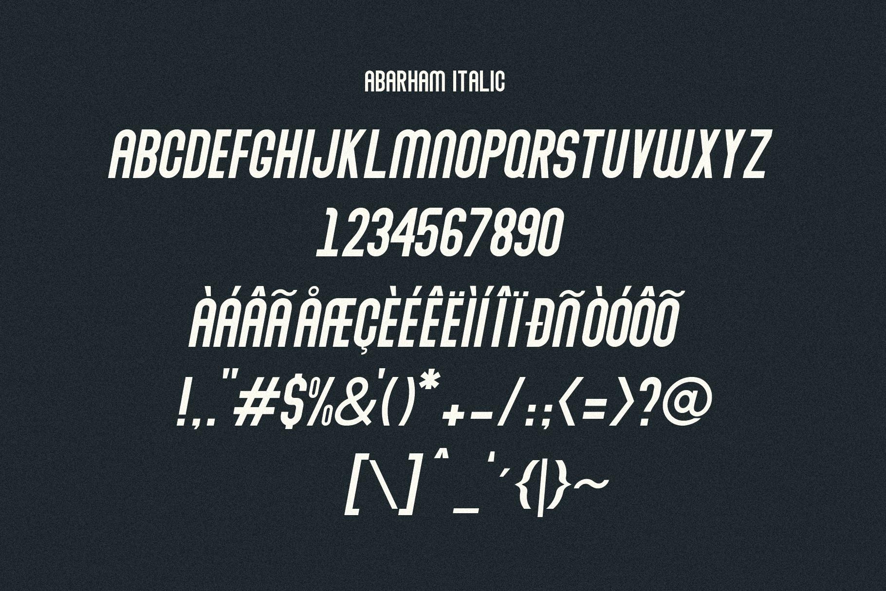 Abraham Font Family 7 Style Fonts example image 7