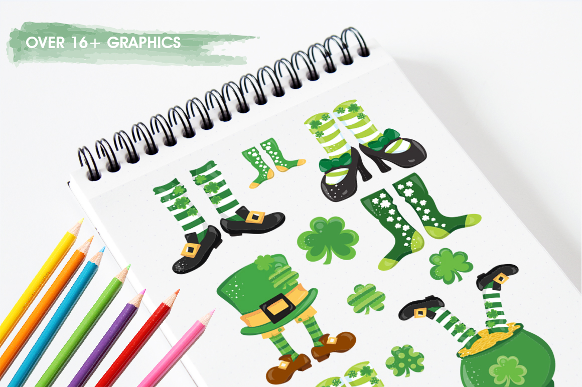 St-Patrick Good Luck graphic and illustrations example image 2