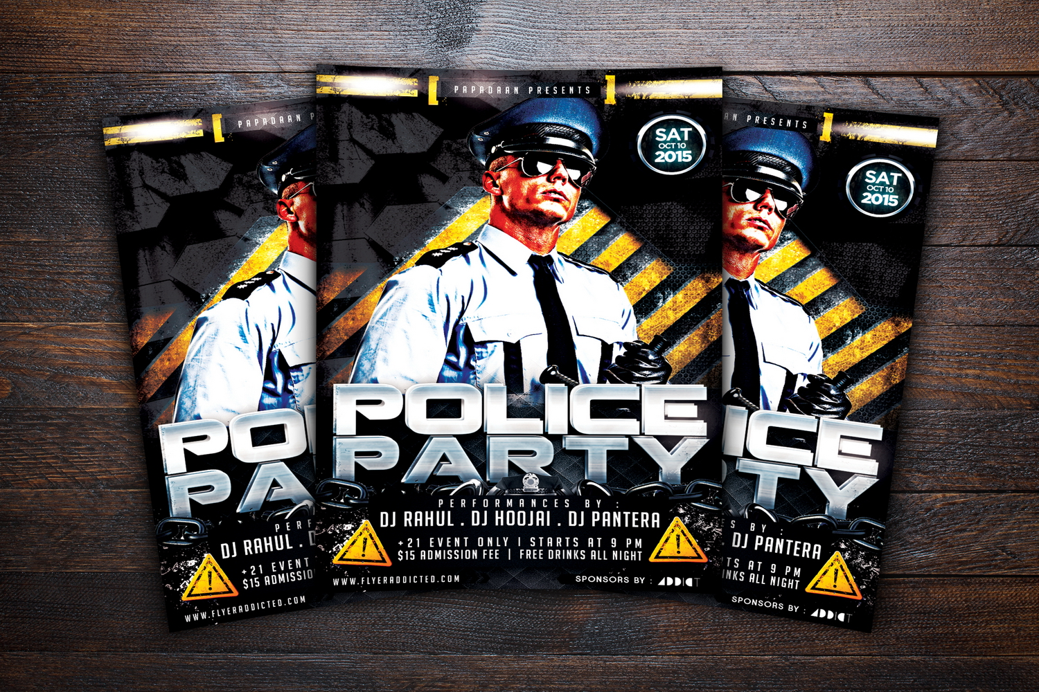 Police Party Flyer example image 3