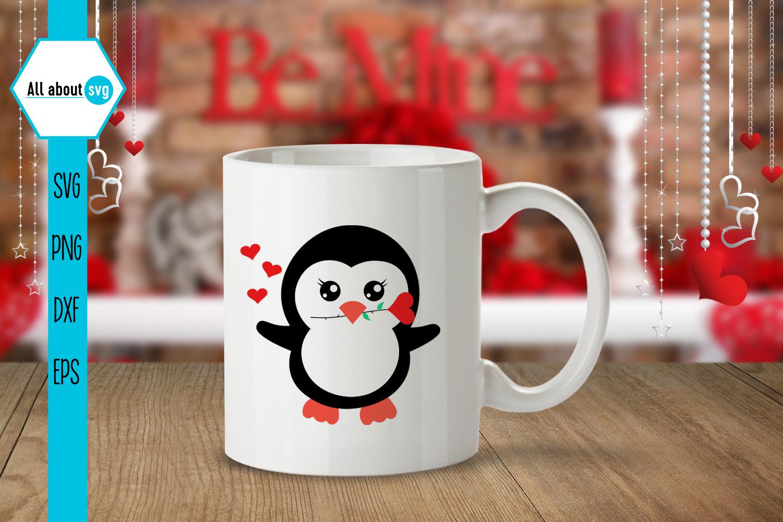 Valentine's Penguins Bundle Svg example image 5
