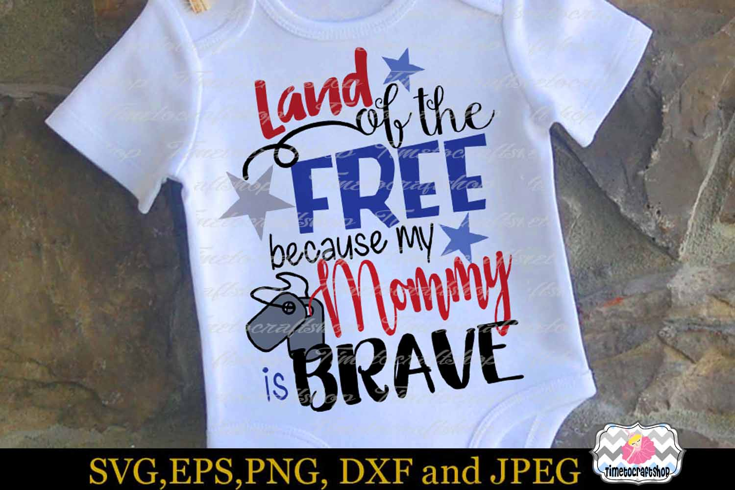 SVG, Dxf, Png Land of the Free Because of the Brave Bundle example image 7