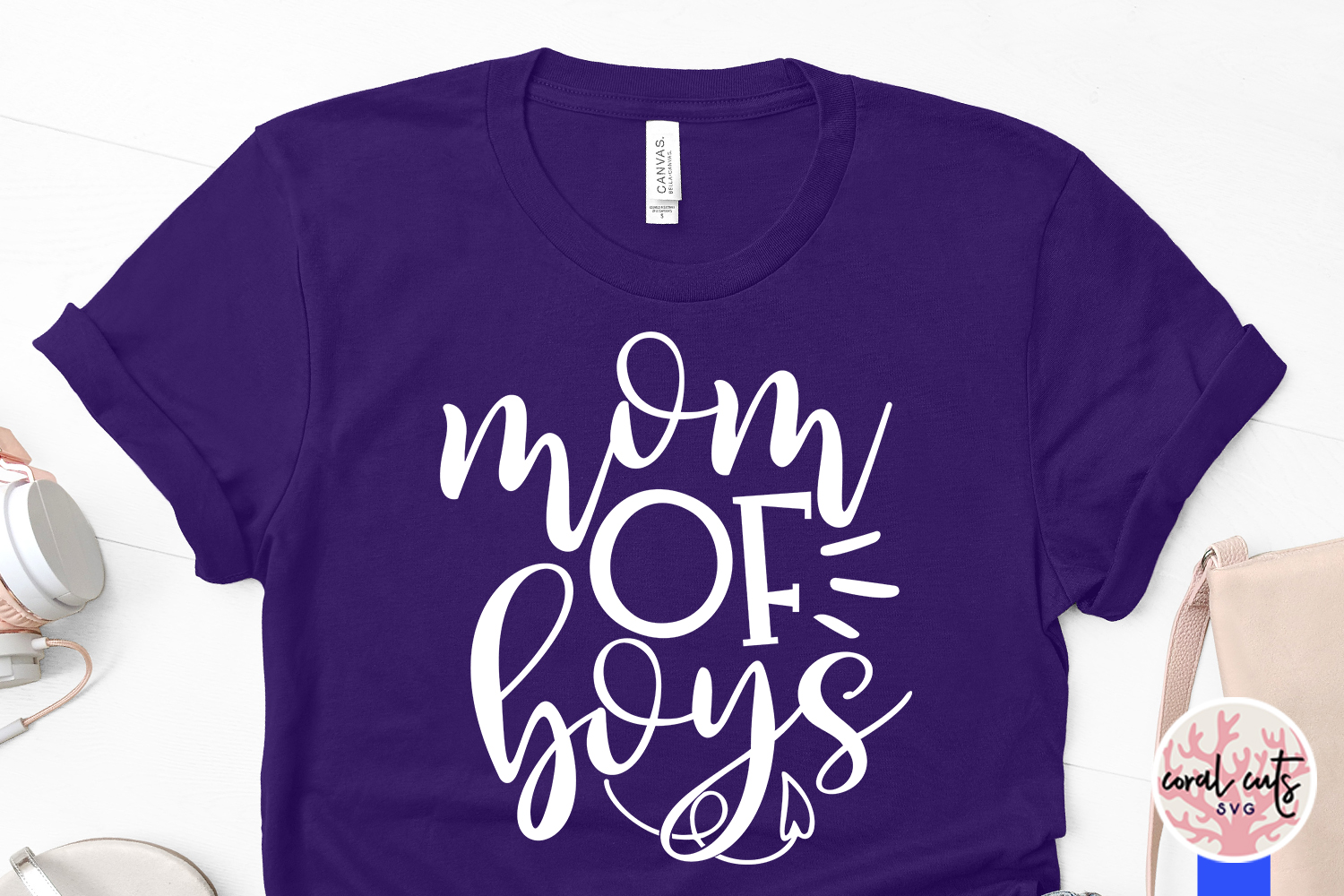 Mother of boys - Mother SVG EPS DXF PNG Cutting File example image 3
